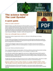The Science Behind the Lost Symbol