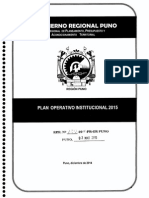 Plan Operativo Institucional 2015 Gobierno Regional Puno
