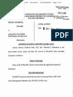 Jackson v. Atlanta Falcons Football Club - Document No. 2