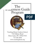 Teaching Drum Outdoor School - Wilderness Guide Program