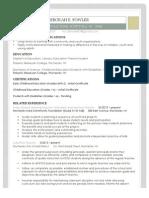 educational resume 2014-2