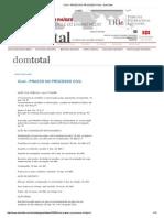 Cível - Prazos No Processo Civil - Domtotal