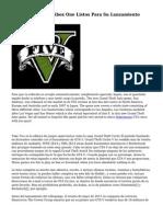Trucos GTA cinco Xbox One Listos Para Su Lanzamiento