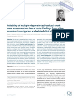 167- Reliability of Multiple-Degree Incisalocclusal Tooth