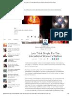 1- Lets Think Simple for the International Women's Welfare _ Divyakant Mishra _ LinkedIn