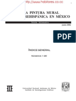 La Pintura Mural Prehispanica en México - Índice General