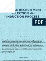 Manage Recruitment Selection -&- Induction Process