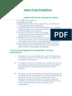 Examen Final Probática