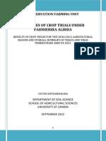 Cfu Faidherbia Crop Trials Shitumbanuma Sep 2012