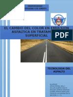 El Cambio Del Color en Emulsion Asfaltica en Tratamiento Superficial Final