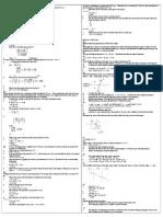 Equations of Motion Worksheet Cheat Shheet