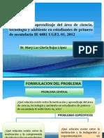 Motivación y aprendizaje del área de ciencia, tecnología y ambiente en estudiantes de primero de secundaria IE 6081 UGEL 01, 2012
