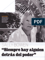 Sally Bowen, Siempre hay alguien detrás del poder