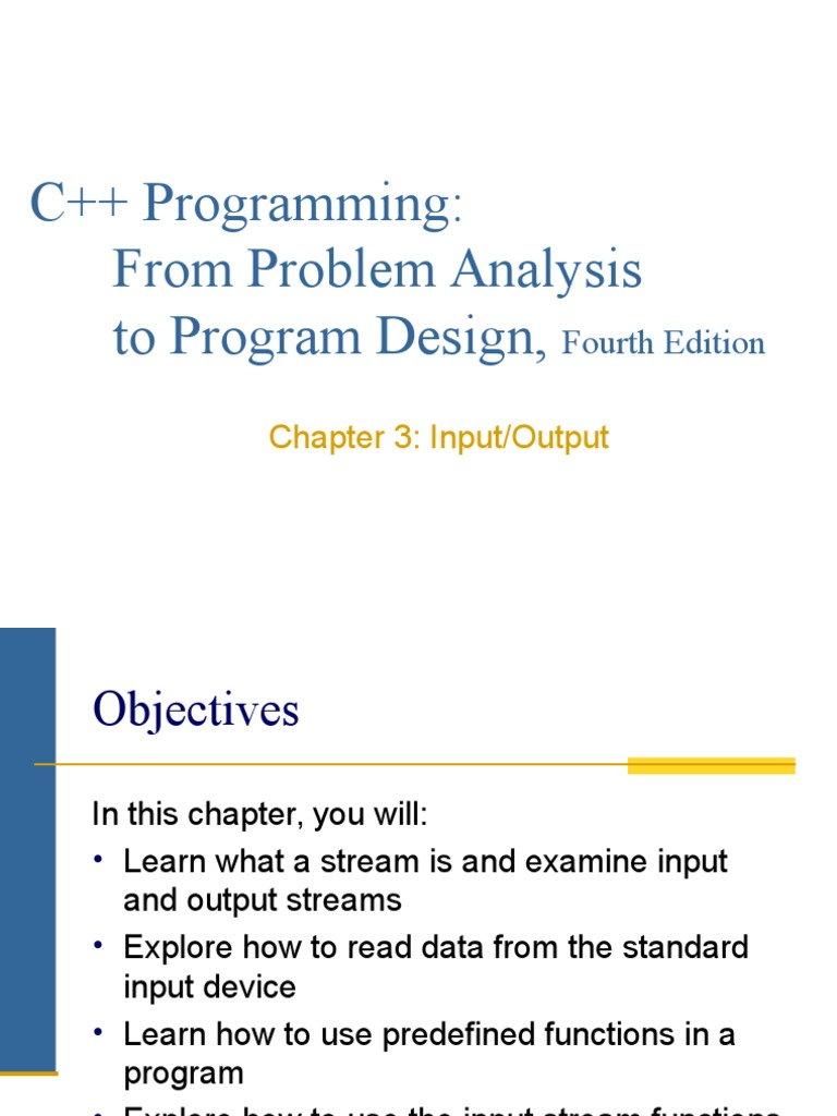 Lesson 4 - Input and Output C++   Subroutine   Input/Output