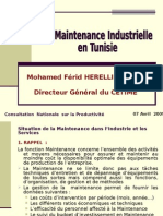Fr_La Maintenance Industrielle en Tunisie