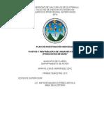 2plan Individual de Investigacion Costos y Rentabilidad Agricola