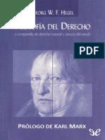 Filosofia Del Derecho - Georg Wilhelm Friedrich Hegel