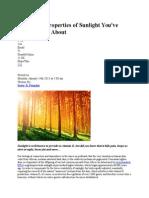 5 Amazing Properties of Sunlight You