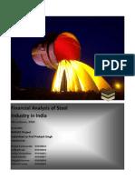 Steel industry financial Analysis