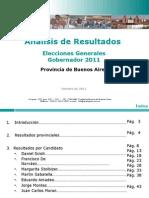 Analisis Post Electoral - Provincia de Buenos Aires - Elecciones Generales a Gobernador