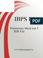 IBPS PO Preliminary Practice Set 5