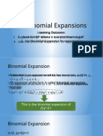 2.3 Binomial Expansions