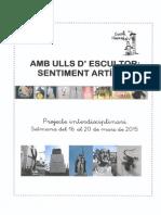 AMB ULLS D'ESCULTOR, SENTIMENT ARTÍSTIC