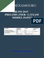 SBI PO Preliminary Model Paper 4