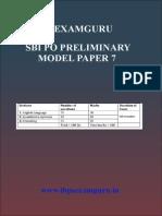 SBI PO Preliminary Model Paper 7