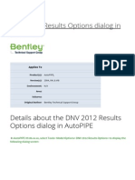 DNV 2012 Results Options Dialog in AutoPIPE - Pipe Stress and Vessel Design - Wiki - Pipe Stress and Vessel Design - Bentley Communities