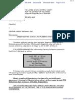 Sanchez v. Central Credit Services, Inc. - Document No. 5