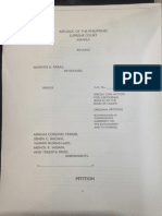 Jacinto Paras Petition