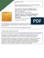 Dissociative Identity Disorder Guidelines