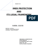 Consumer Protection & Its Legal Framework