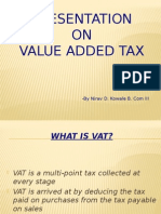 presentation on value added tax
