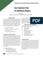 When Systems Fail, CAPA Validation Begins