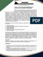 V JORNADAS DE LA FACULTAD DE INGENIERÍA DE LA  UNIVERSIDAD DR. JOSÉ GREGORIO HERNÁNDEZ
