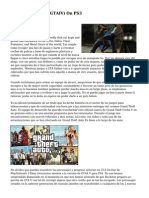 Grand Theft Auto (GTAIV) On PS3