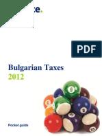 Bulgarian Taxes 2012
