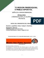 1.Planpastoral 2014 - 2015 Mispa