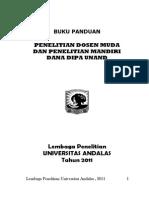 Panduan Penelitian Dosen Muda 2011