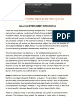 Allah Sanctions Incest in the Qura an Defense Miss