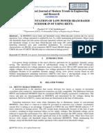 Fpga Implementation of Low Power Sram Based Processor in 8t Using Hetts
