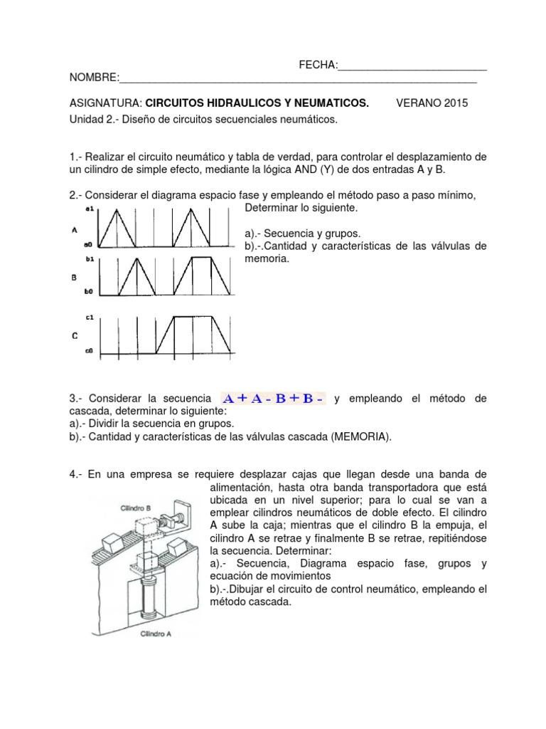 Circuito Neumatico Basico : Test neumatica