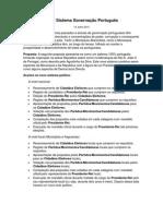 Proposta Sistema Governação Português