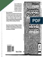 La noción de cultura en las ciencias sociales