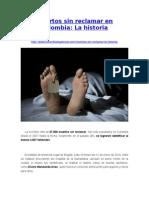 Muertos Sin Reclamar en Colombia