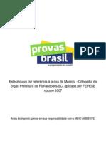 1 Prova Objetiva Medico Ortopedia Prefeitura de Florianopolis Sc 2007 Fepese