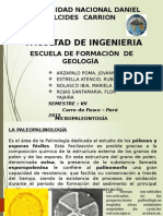 Exposicion Micropaleontologia 2dooo