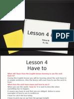 English - Lesson 4 & 5